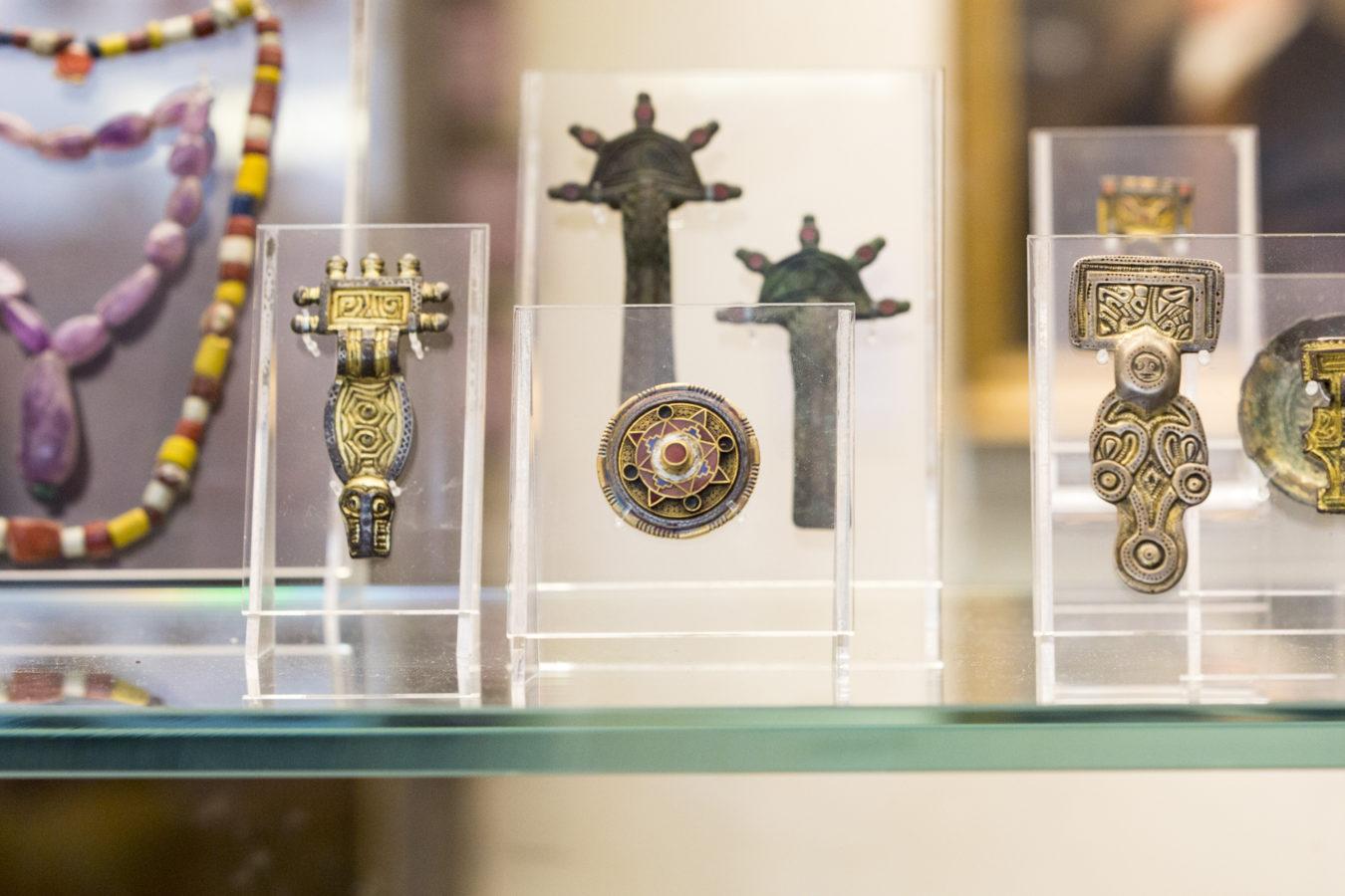 Anglo Saxon Kentish Silver Disc Brooch