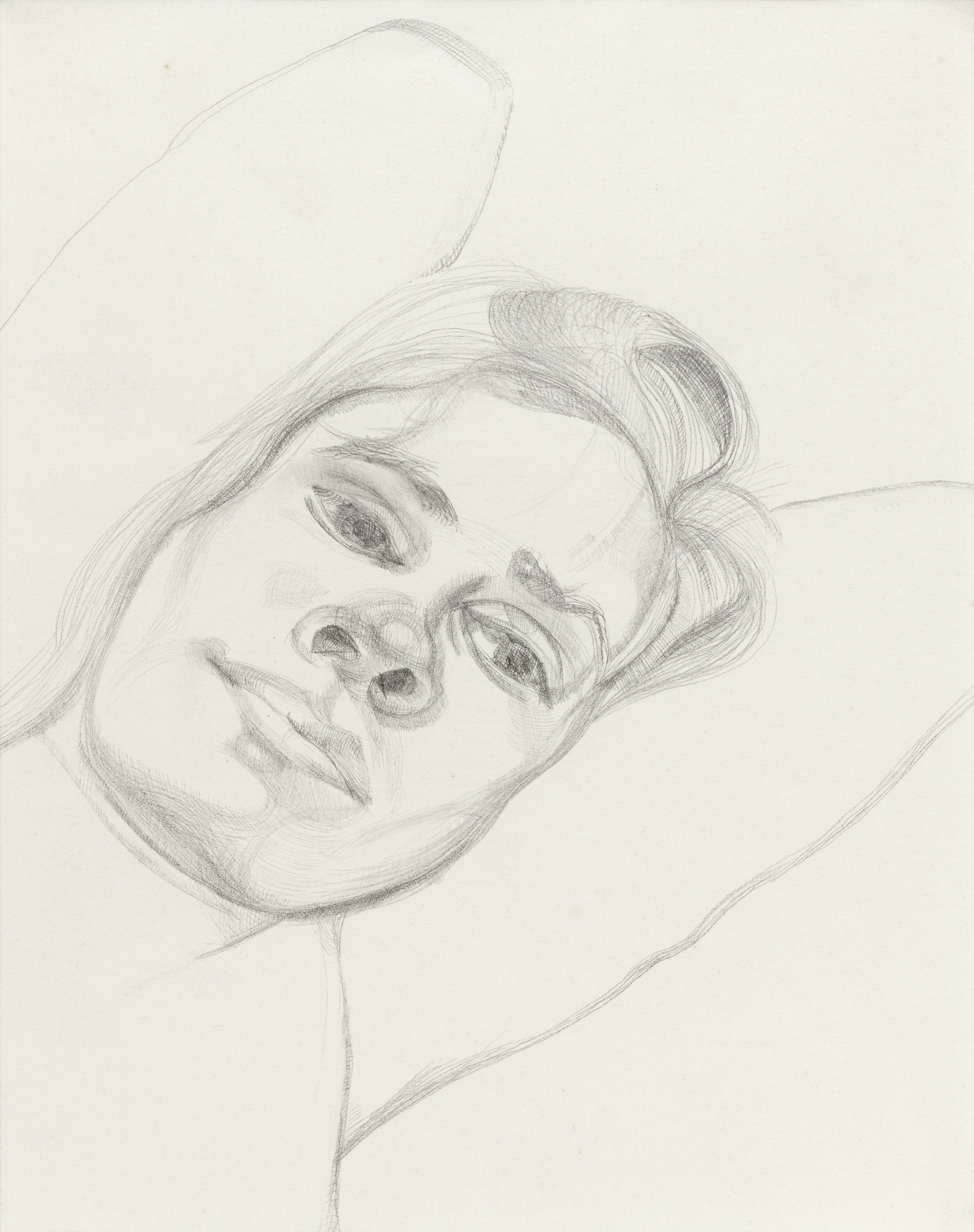 Lucian Freud Drawing of a Girl, Alice. 1974. Arts Council Collection, Southbank Centre, London © Lucian Freud Archive. All rights reserved, Bridgeman Images, 2017