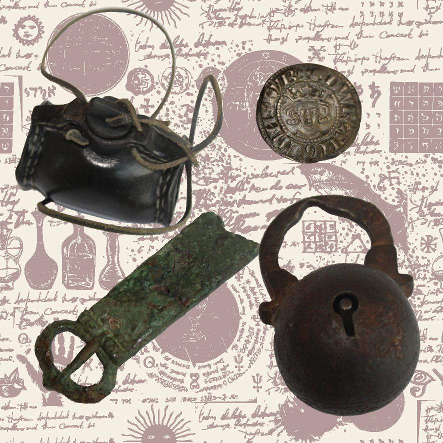 Selection of medieval objects for object handling.