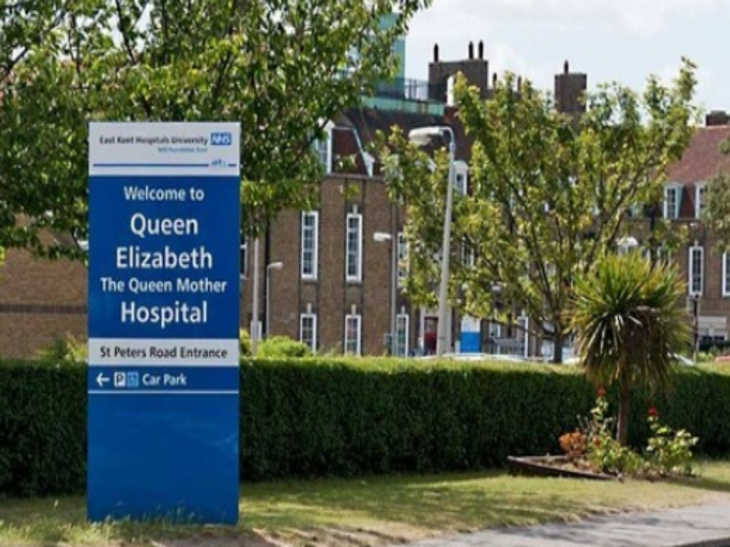 Sign outside the Queen Elizabeth Hospital