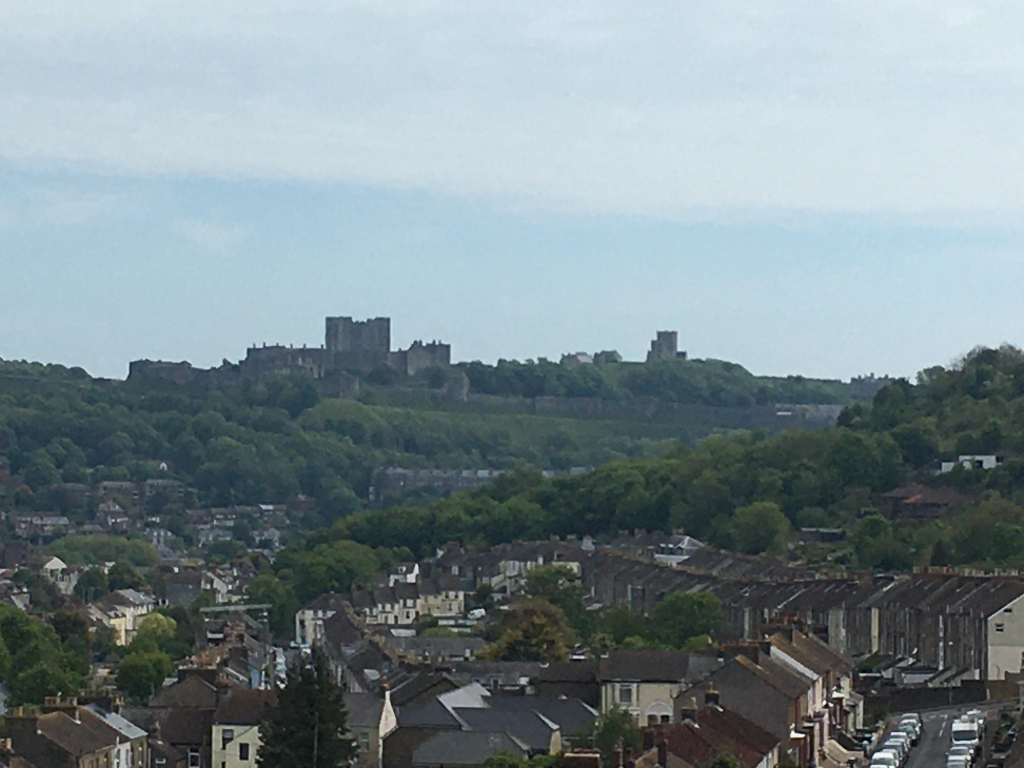 Dover Castle with Dover houses in the foreground