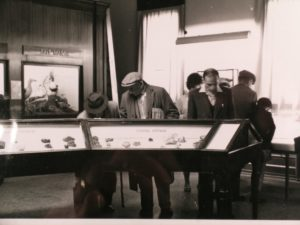 Visitors viewing the collections inside The Beaney in the 1950's