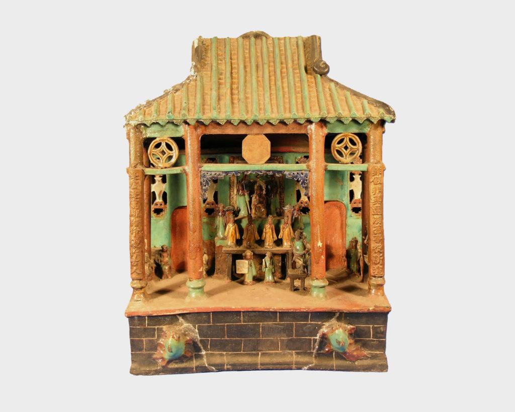 Chinese ceramic temple