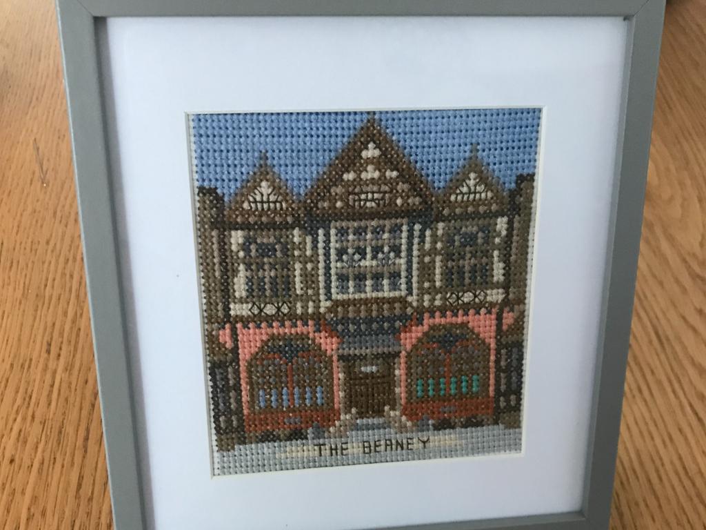 Crochet artwork of The Beaney