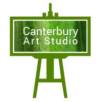 Canterbury Art Studio logo of an easel