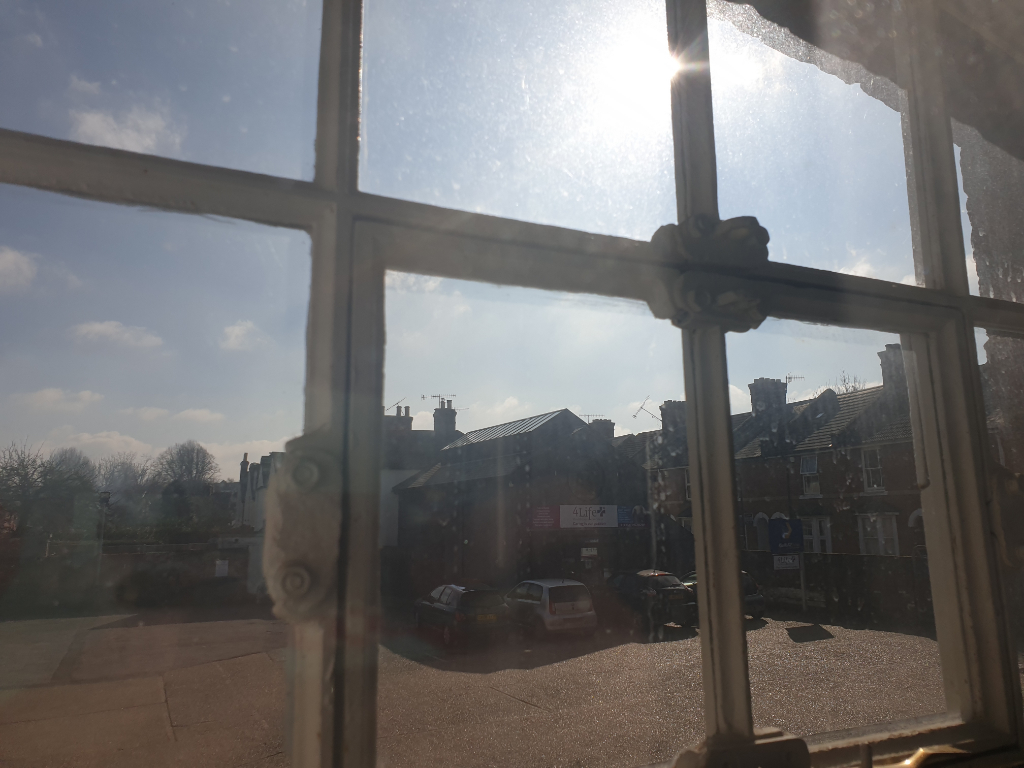 View out of a window