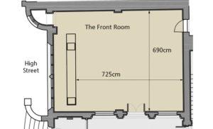 Front Room Gallery floorplan